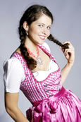 Midi Dirndl in Pretty Pink